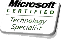 mcts (Microsoft certified technology specialiste)