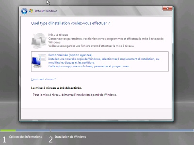 options personalises (windows small business serveur 2008)