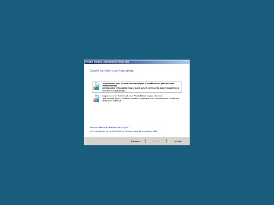 mise a jour (windows small business serveur 2008)
